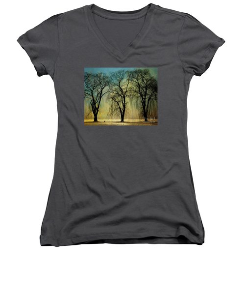 The Weeping Trees Women's V-Neck (Athletic Fit)