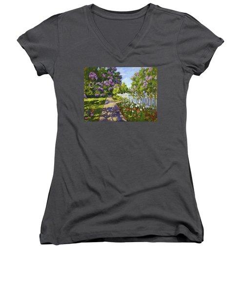 The White Fence Women's V-Neck T-Shirt