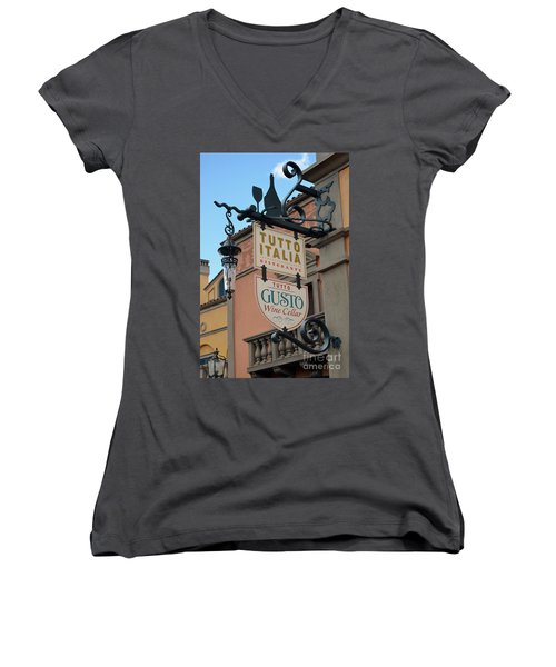 Women's V-Neck T-Shirt (Junior Cut) featuring the photograph The Wine Cellar by Robert Meanor