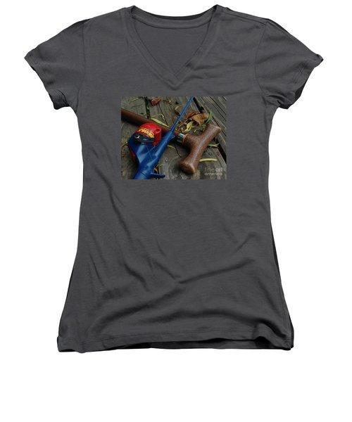 The X Men Women's V-Neck T-Shirt (Junior Cut) by Peter Piatt