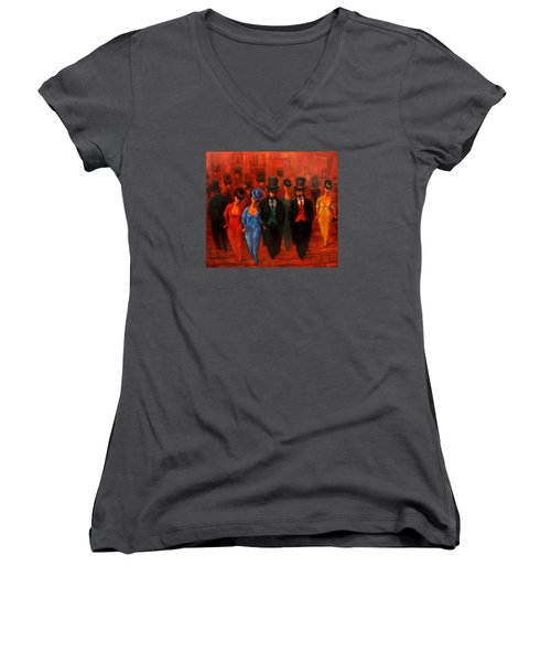 Theatre Night  Women's V-Neck (Athletic Fit)