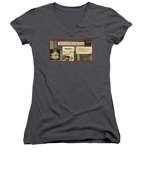 Theatre Room Women's V-Neck T-Shirt