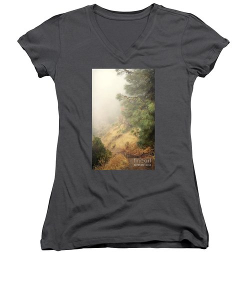Women's V-Neck T-Shirt (Junior Cut) featuring the photograph There And Back Again 2 by Ellen Cotton