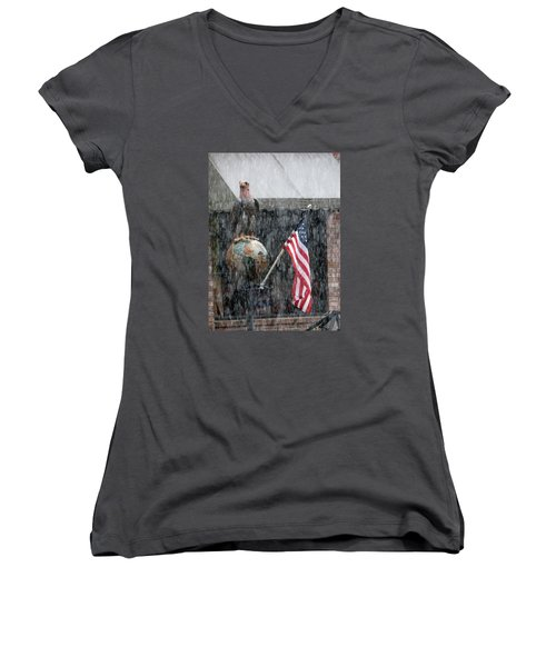 These Colors Dont Run Women's V-Neck T-Shirt (Junior Cut) by John Glass