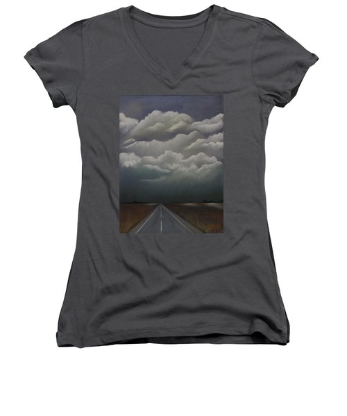 This Menacing Sky Women's V-Neck (Athletic Fit)