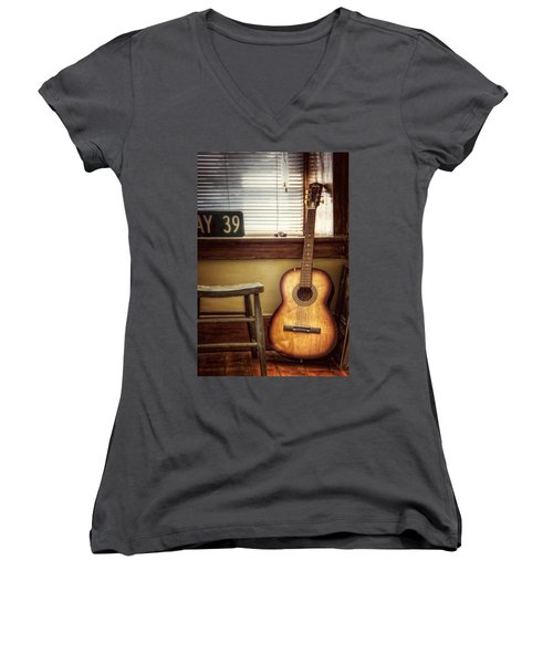 This Old Guitar Women's V-Neck