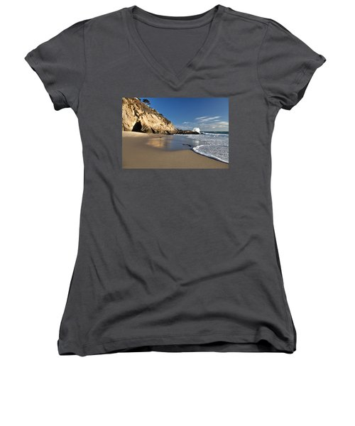 Thousand Steps Beach At Low Tide Women's V-Neck