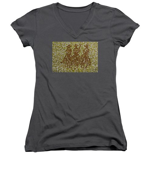 Amigos Women's V-Neck T-Shirt (Junior Cut) by Kurt Olson