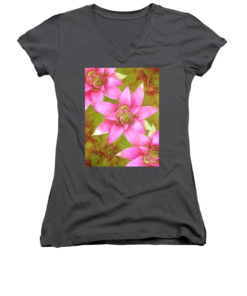 Three Pink Ladies Women's V-Neck T-Shirt