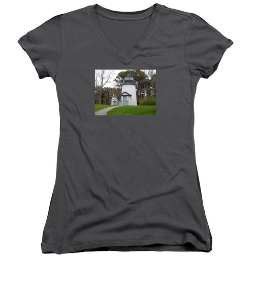 Three Sisters Light Women's V-Neck T-Shirt (Junior Cut) by Catherine Gagne