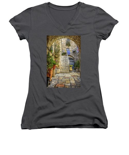 Through The Doorway Women's V-Neck (Athletic Fit)