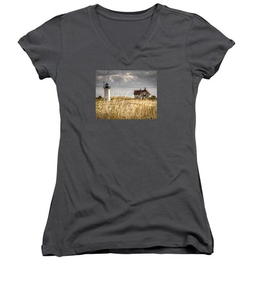 Race Point Light Through The Grass Women's V-Neck (Athletic Fit)
