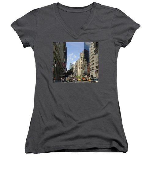Women's V-Neck T-Shirt (Junior Cut) featuring the photograph Through The Looking Glass by Meghan at FireBonnet Art