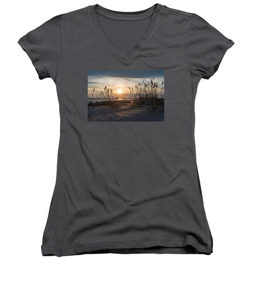 Through The Reeds Women's V-Neck