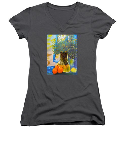 Through The Window Women's V-Neck T-Shirt