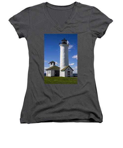 Tibbetts Point Lighthouse Women's V-Neck