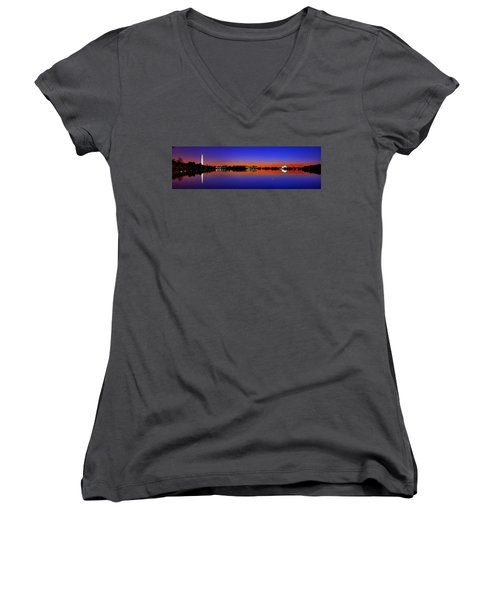 Tidal Basin Sunrise Women's V-Neck