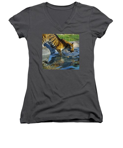 Tiger 1 Women's V-Neck (Athletic Fit)
