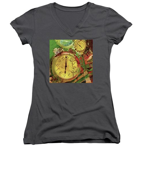 Time 6 Women's V-Neck T-Shirt