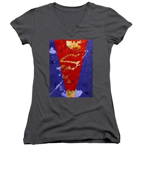 Time For A New Suit Women's V-Neck T-Shirt (Junior Cut) by Fran Riley