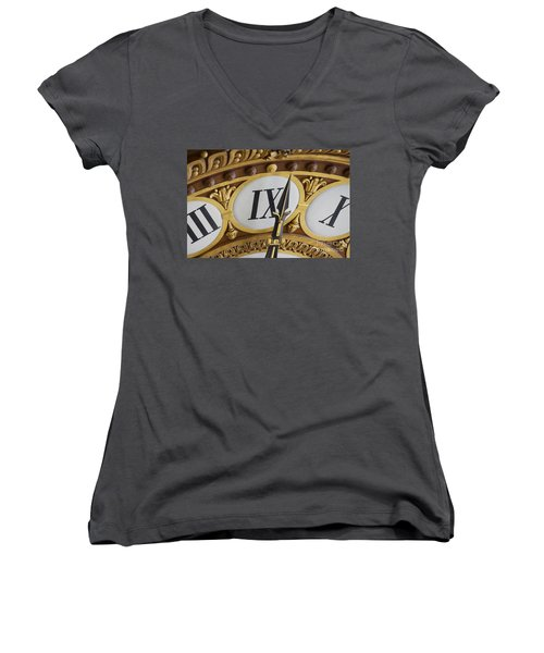 Time Goes By... Women's V-Neck T-Shirt