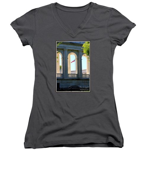 Time To Reflect Women's V-Neck T-Shirt (Junior Cut) by Patti Whitten