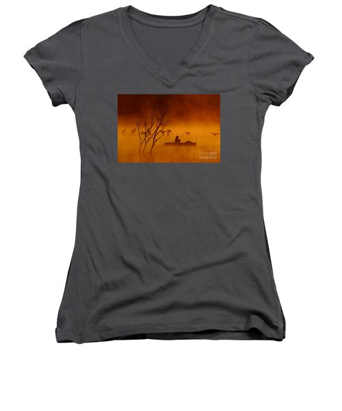 Time To Spread My Wings And Fly Women's V-Neck T-Shirt