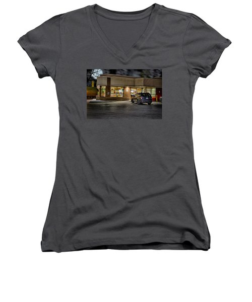 Timmy's At Night Women's V-Neck T-Shirt