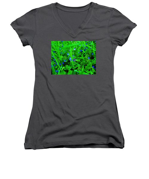 Women's V-Neck T-Shirt (Junior Cut) featuring the photograph Tiny Butterfly by Sherman Perry