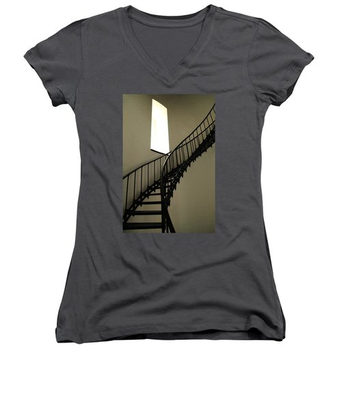 To The Light Women's V-Neck T-Shirt (Junior Cut) by Roupen  Baker