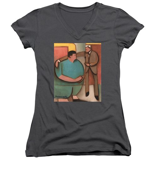 The Price Is Wrong Art Print Women's V-Neck (Athletic Fit)