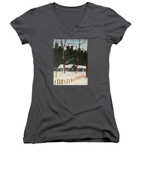 Tonys House In Sweden Women's V-Neck T-Shirt