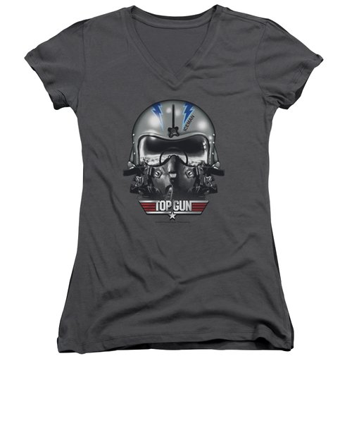 Top Gun - Iceman Helmet Women's V-Neck T-Shirt