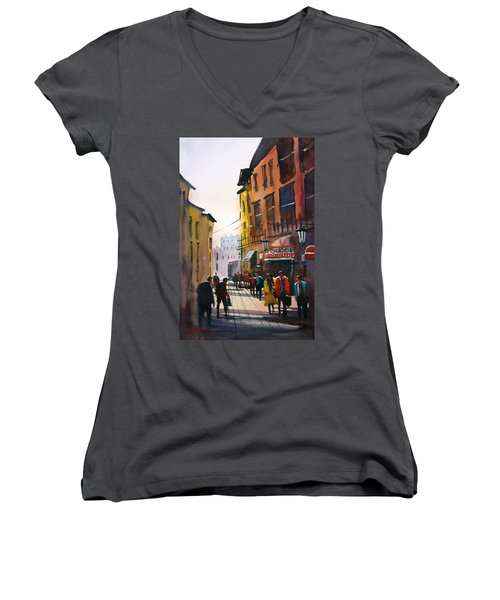 Tourists In Italy Women's V-Neck (Athletic Fit)