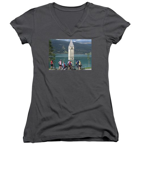 Tower In The Lake Women's V-Neck
