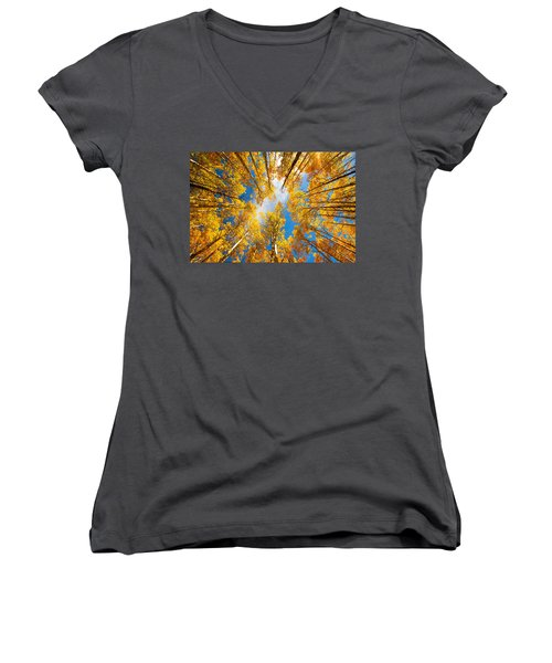 Towering Aspens Women's V-Neck
