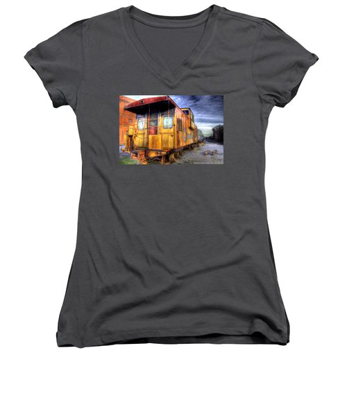 Train Caboose Women's V-Neck (Athletic Fit)