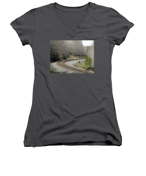 Train It Coming Around The Bend Women's V-Neck (Athletic Fit)