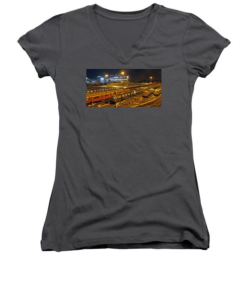 Trains Nyc Women's V-Neck (Athletic Fit)