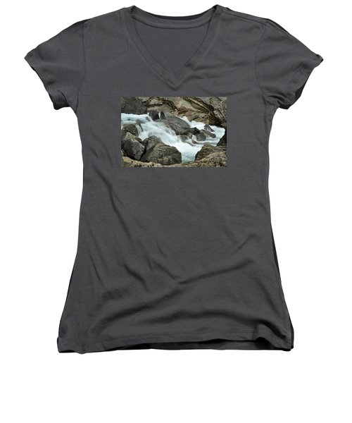 Women's V-Neck T-Shirt (Junior Cut) featuring the photograph Tranquility by Lisa Phillips