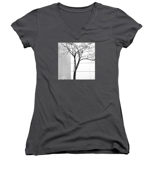 Tree Lines Women's V-Neck (Athletic Fit)
