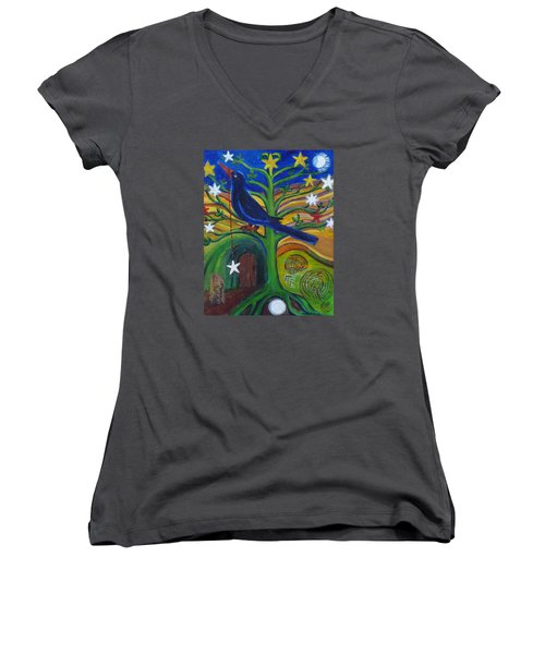 Tree Of Stars Women's V-Neck (Athletic Fit)