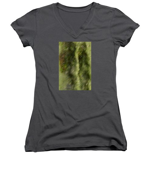 Tree Man Women's V-Neck T-Shirt (Junior Cut) by Nadalyn Larsen