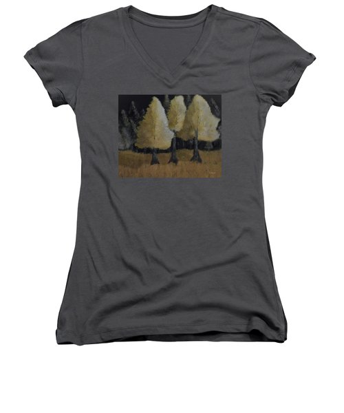 Tree Trio Women's V-Neck T-Shirt