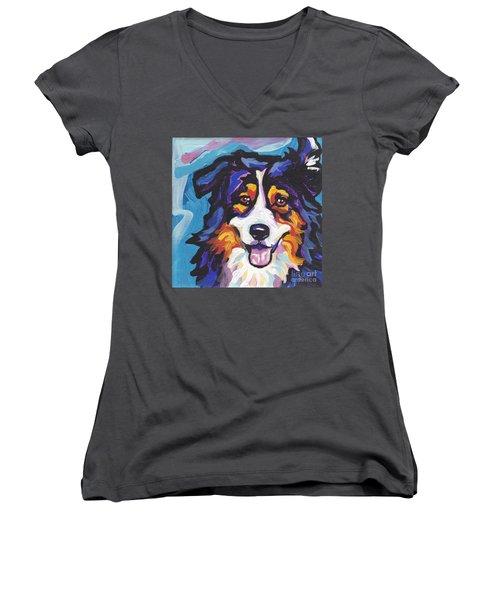 Tri Aussie Women's V-Neck T-Shirt
