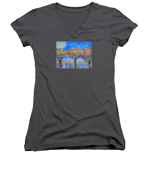 Trick Or Treat 1 Women's V-Neck (Athletic Fit)