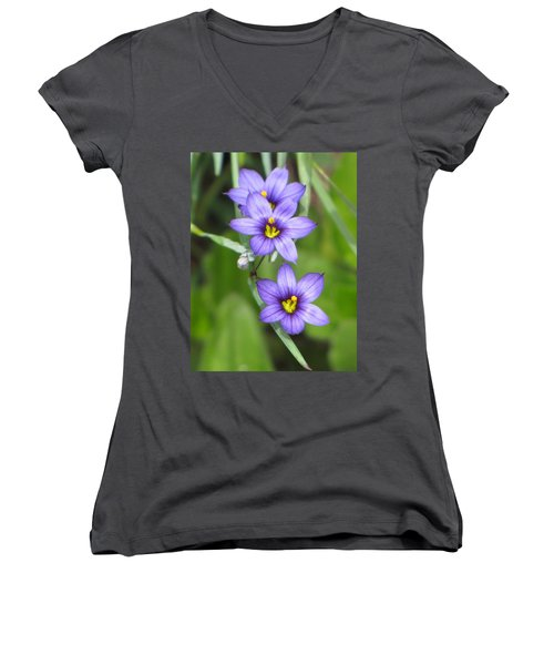 Triple Purple Women's V-Neck T-Shirt