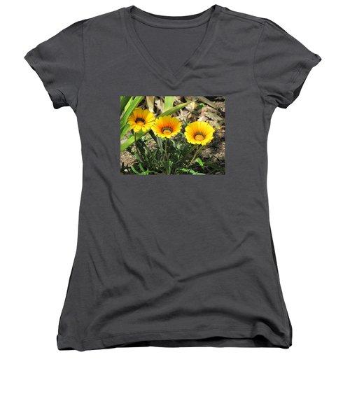 Triplets Women's V-Neck T-Shirt