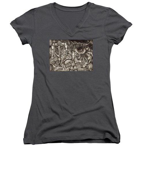 Tripping Through Bogomils Mind Women's V-Neck T-Shirt