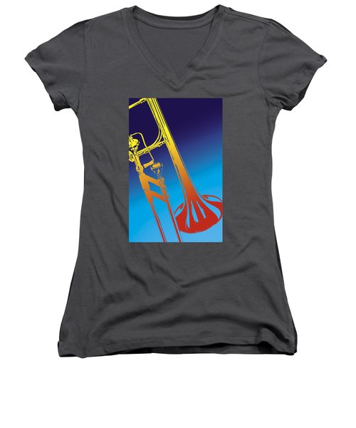 Trombone Women's V-Neck (Athletic Fit)